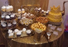 elegant table with foods